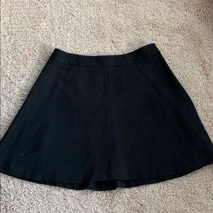 Loft black a-line mini skirt